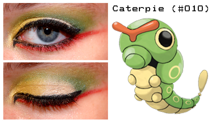 pokemakeup_010_caterpie_by_nazzara-d4bnwh8