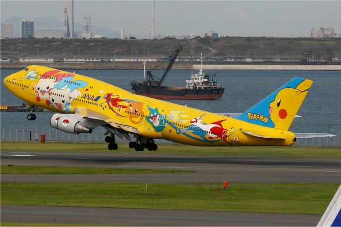 Pokemon Jet - Pikachu Boeing 747-400D