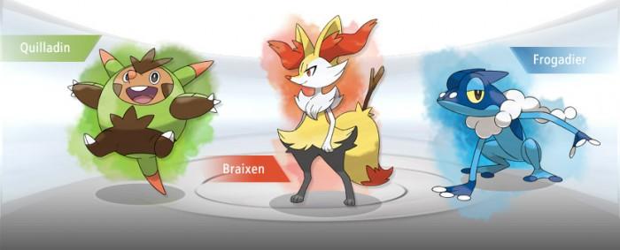 Starters Pokemon X Y