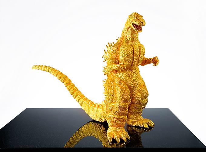 Estatua de Godzilla de 150 millones de yens Godzilla-Oro